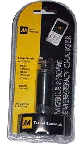 AA Essentials chargeur de téléphone portable d'urgence