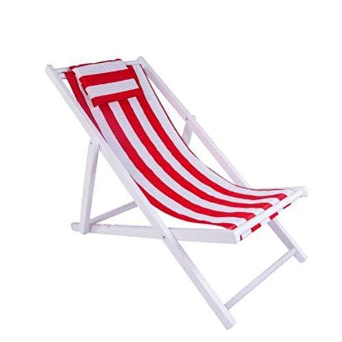 DSHUJC Zero Gravity Chair Sonnenliege mit Kissen, klappbarer Außenverstellstuhl aus verstellbarem Hartholz Liegestuhl Garden Patio Beach Lounger Support 160 kg Sonnenl