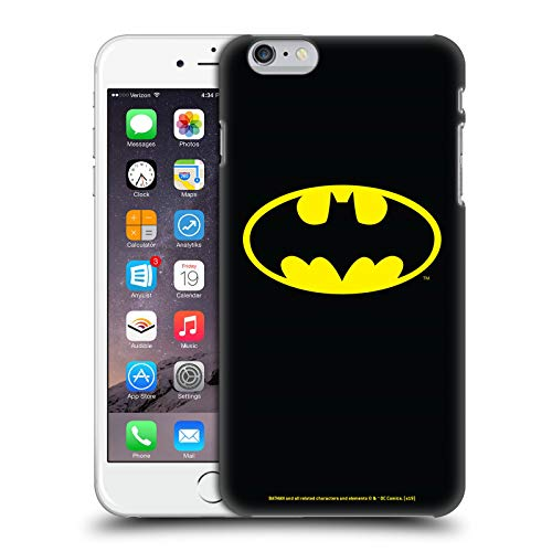 Head Case Designs Ufficiale Batman DC Comics Classico Logos Cover Dura per Parte Posteriore Compatibile con Apple iPhone 6 Plus/iPhone 6s Plus