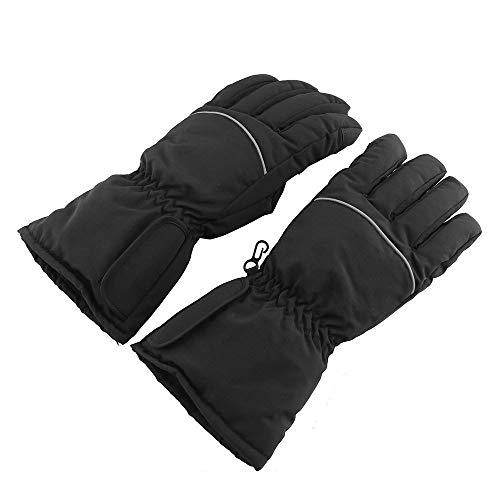 A'kin - Guantes térmicos, guantes térmicos eléctricos, guantes térmicos para motocicleta, al aire libre, con batería caliente eléctrica impermeable (pilas no incluidas).