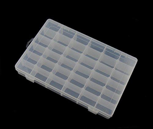 Perlenbox 5XL groß Sortierbox mit 36 Fächern 34cm Sortierkiste Kunststoff Container Materialbox Sortimentskasten Sortimentsboxen für die Schmuck, Perlen Nailart Kosmetik und andere Mini Waren
