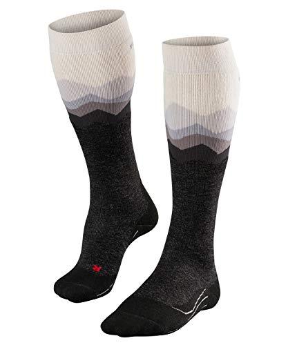 FALKE Damen Skisocken SK2 Crest - Merinowollmischung, 1 Paar, Weiß (Woolwhite 2060), Größe: 37-38