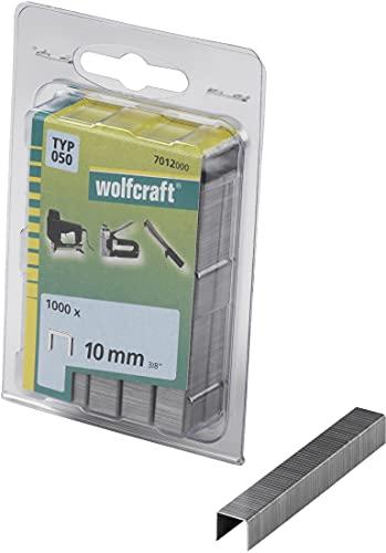 Wolfcraft 7012000 7012000-1000 Grapas de Lomo Ancho, Tipo 050, 100 x 50 x 50 cm, Set de 1000 Piezas