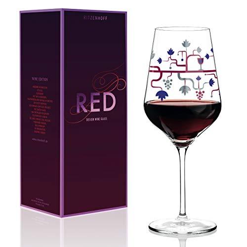 RITZENHOFF Pietro Chiera - Copa de vino tinto (cristal, 580 ml), color rojo