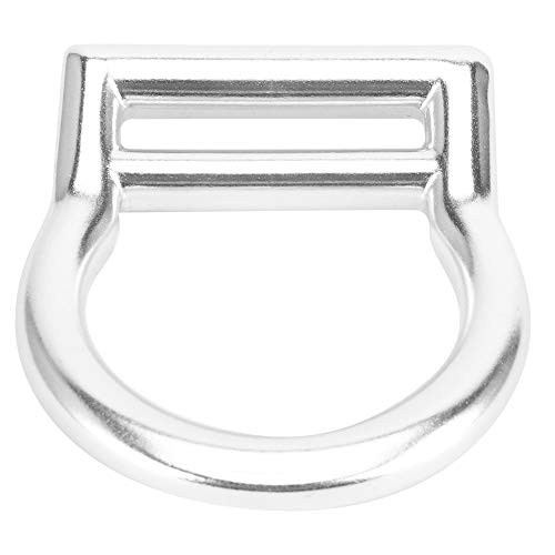 JIAYOUMIhome Outdoor Klettern Sicherheit Gürtel Aluminium Legierung Suspension Ring Sicherheit Gürtel Gerade Ring Biegen Ring Schutz D- Ring Außen Klettern Sicherheit Gürtel