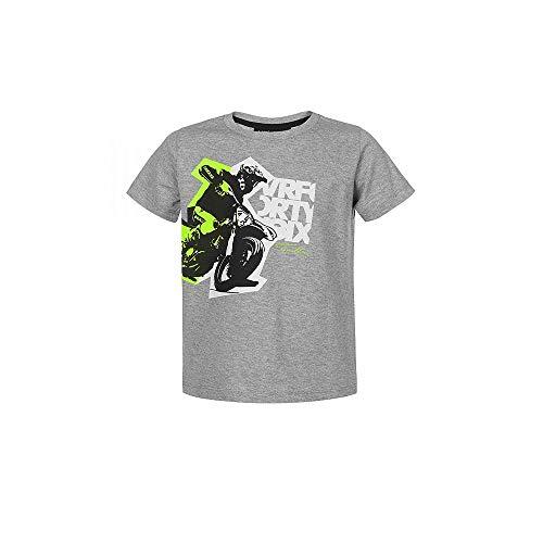 Valentino Rossi VLKTS357905006, T-Shirt Vrfortysix Bambino Unisex, Grigio Melange, 8/9 anni