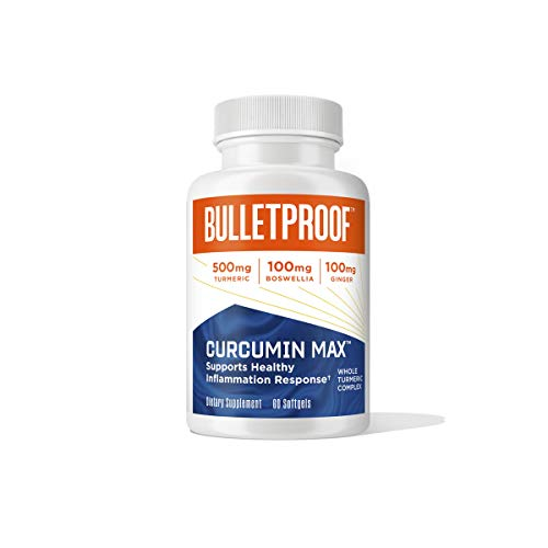 Bulletproof Curcumin Max, Turmeric Complex Supplement with Ginger Root,...