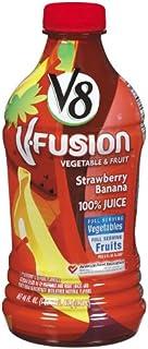 V8 V-Fusion Strawberry Banana 100% Juice, 46-Fl Oz Bottles (Pack of 8)