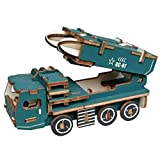 YOUTHINK Modelo de Coche de Bricolaje Hecho a Mano en 3D Rompecabezas tridimensionales de vehículo de misil Coche Rompecabezas de Madera Juguetes Kid Child Woodcraft Assembly Kit