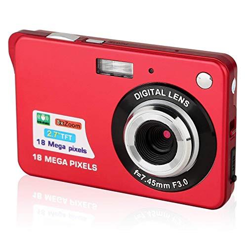 CamKing - Cámara digital de bolsillo (2,7 pulgadas, Mini FHD, 1080p, para viajes en mochila, cámaras compactas para fotografía)