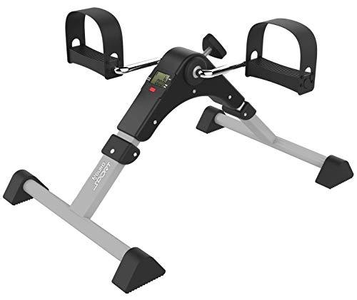 Aduro Sport Foldable Pedal Exerciser, Stationary Under Desk Exercise Equipment for Arm/Leg/Foot Peddler Exercise (Silver/Black)