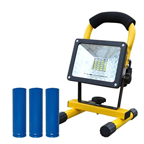 Drdcsad Searchlight 3 Mode COB LED Portable Spotlight Searchlight Camping Light Rechargeable Handheld Work Light Power 2400LM Waterproof Lantern New (Emitting Color : Battery)