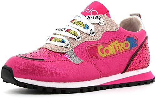 Scarpe Bambino Liu-Jo Sneaker Me Contro Te Wonder 10 con luci LED Pink ZS21LJ03