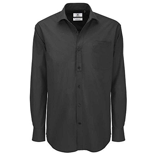 B&C Collection Heritage Long Sleeve Mens Poplin Cotton Smart Formal Work Shirt