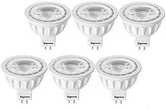 MR16 LED Light Bulbs with GU5.3 Base by Signreen, 50W Equivalent Halogen Bulbs, 12V 5W LED Spotlight Light, 40 Degree, Non-Dimmable, 6 Packs, Warm White 2700K