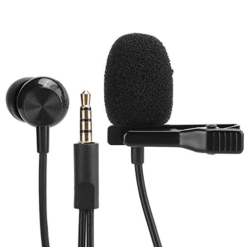 Ccylez Micrófono de Solapa, micrófono de Condensador omnidireccional con Clip, Mic inalámbrico para iOS, cámaras/bolígrafos de grabación/cámaras de Video/computadoras, Mini Microphone de grabación