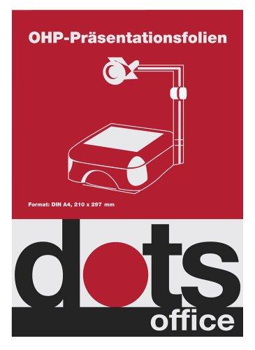 100 dots OHP-Folien für S/W-Laserdrucker/Kopierer / DIN A4 / 0,10 mm