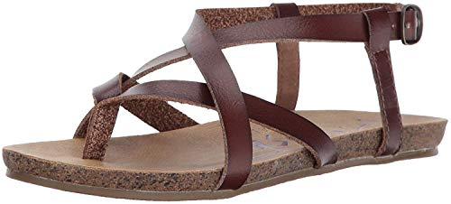 Blowfish Malibu Women's Granola Flat Sandal, Whiskey Dyecut PU, 10 Medium US