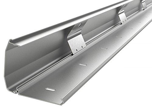 RICOO Z1110-S Kabelkanal Silber Länge 110 cm Alu Kabelklemme Kabelschlauch Kabelbox Kabelführung Kabel-Management für Fussboden und Wand