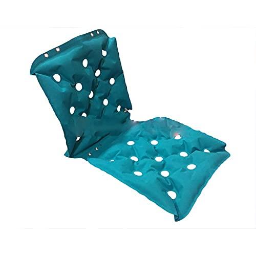 DFJU Cojines para sillas de Ruedas Impermeable, Transpirable, antiescaras, colchón Inflable, Soporte ortopédico para la Espalda para hemorroides, Alivio de la presión, llagas y úlceras, acné