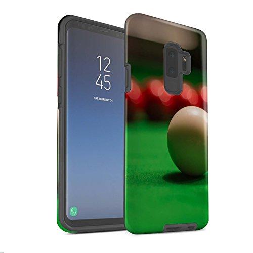 Stuff4® Matte Harten Stoßfest Hülle/Case für Samsung Galaxy S9 Plus/G965 / Weiße Kugel Muster/Snooker Kollektion