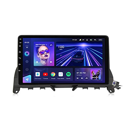 Android 10 GPS Navegador Coche para Mercedes Benz C Class 3 W204 S204 2006-2011 - FM RDS AM Radio del Coche, Conexión a Internet WiFi/5G, Soporte DSP Carplay/BT Llamadas Manos Libres,7862: 4+64gb