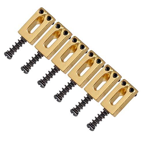 chiwanji Rollensattel Gitarrenbrückensaitensättel für Elektrische Brückenteile Gold