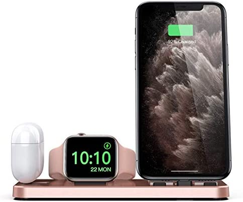 CEREECOO Portable 3 in 1 Charging Station for Apple Products Foldable Charger Stand for iWatch product image