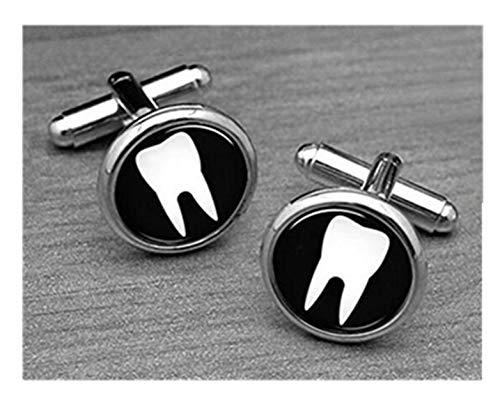 Zahn Manschettenknöpfe, Zahnarzt Manschettenknöpfe, Arzt Zahnarzt cuffl Tinten