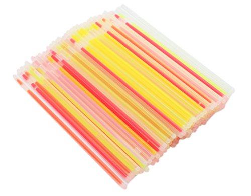 BONAMART ® 100 PCS LED Glow Sticks Arm Knick licht Leuchtstab Nicklichter bunt gemischt mit Verbinder Leuchtarmband