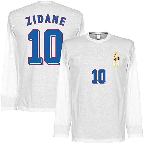 Zidane 1998 Away L/S T-Shirt - weiß - S