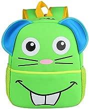 حقيبة ظهر مدرسية بتصميم ماوس الحيوان من Kindcells لون أخضر YD-001