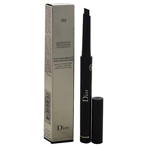 Christian Dior Diorshow Pro Liner, Lápiz de ojos con punta de bisel impermeable, No. 582 Pro Brown