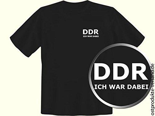 Ostprodukte-Versand.de Tshirt DDR ICH WAR DABEI schwarz | DDR Geschenke | Ossi Artikel