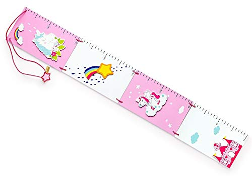 Mousehouse Gifts - Medidor de crecimiento para niña - Temática unicornios