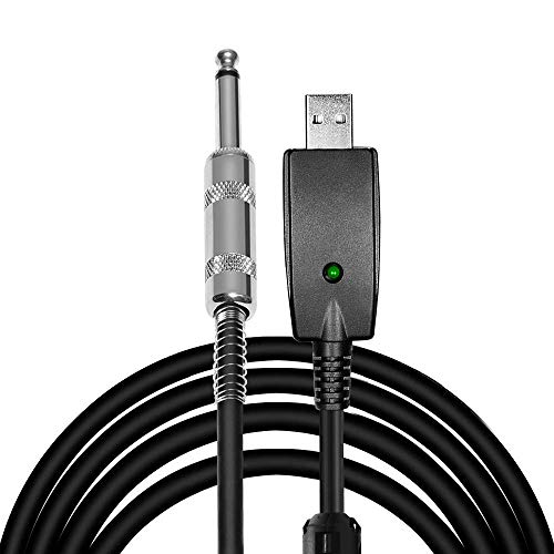 Guitar Bass to USB Link Connection Cable Adapter,Professional Guitar to PC USB Link Recording Cable Lead Adaptor 2.8M/9.2FT