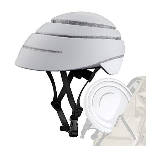 DYOYO Casco de Bicicleta Plegable Helmet Loop Casco de Bici,Fashional Forro Desmontable del Sistema Ajustable Fresco Cómodo Seguridad Ventilación Ligero Transpirable para Adulto 56-63cm