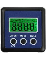 Inclinómetro Digital Nivel de Ángulo LCD Luz de Fondo Transportador Ángulo Buscador de Angulo Inclinómetro Portatil Base Magnética