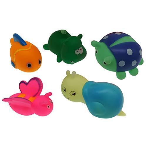 GZQ Juguetes de baño,6pcs Silicona Juguete de Dinosaurio/ Insecto Flotante, Juguetes de Natación Playa para niños Más de 18 Meses (Estilo B)