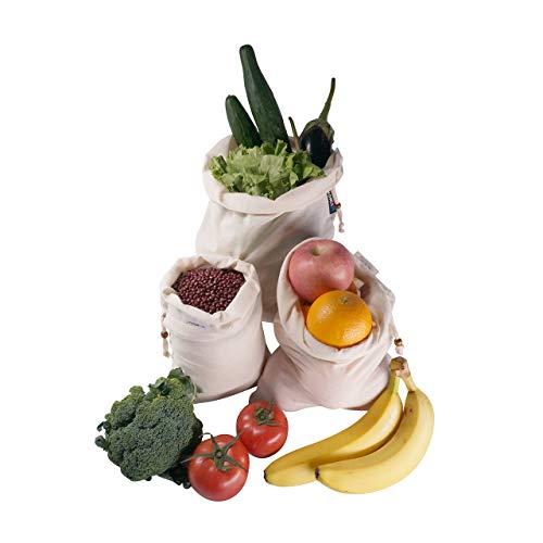 6pcs Organic Reusable Cotton Produce Bags,cotton drawstring bags,linen bread bag