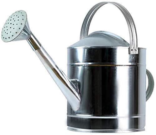 LLDKA Gießkanne-Qualität aus verzinktem Metall mit abnehmbarem Messing 5L / 7L / 10L / 13L // 15L / 20L,20l