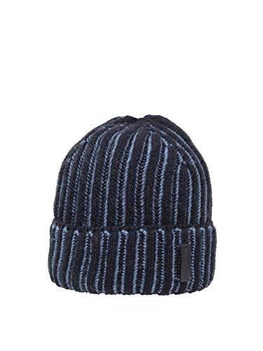 Emporio Armani Gorro acanalado con solapa 627012 0A512 azul (M)