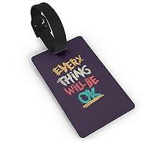 JHWBD 荷物タグBest Saying スーツケース ネームタグ 荷物 タブ ネームホルダー 番号札 - カラフルOne Size 紛失防止 スーツケースタグ 出張 旅行用 カバン装飾 色やスタイルの様々な