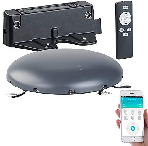 Sichler Haushaltsgeräte Saugrobotor: WLAN-Staubsauger-Roboter, ultraflach & kompakt, 100 Min. Akku-Laufzeit (Saugroboter Teppich)