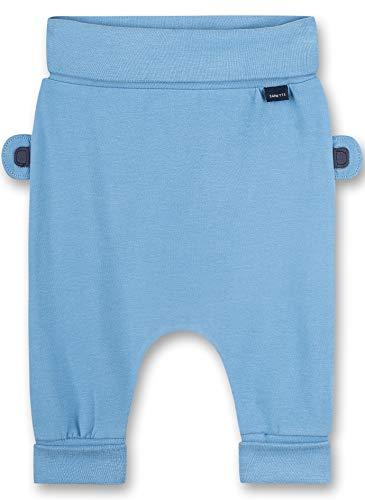 Sanetta Baby-Jungen Hose aus Strickstoff blau Freizeithose, Blue Sky, 74