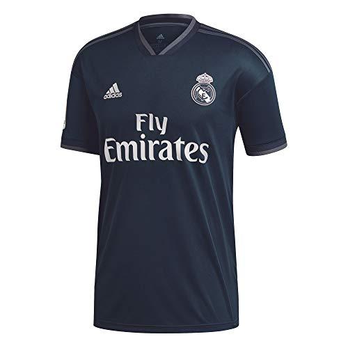 adidas 18/19 Real Madrid Away with Lfp Badge Camiseta, Hombre, ónitéc/onifue/Blanco, M