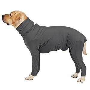 IUOU Pet Home Wear Pyjamas Chien Combinaison Protection Opérative Body À Manches Longues Confortable pour Les Chiens De Taille Moyenne XS-3XL