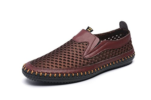 MIXSNOW Men's Water Shoes Mesh Casual Walking Shoes Slip-On Loafers WDCoffee38