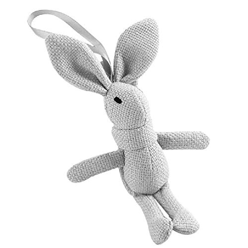 SHAOKAO Lindo conejo felpa animal relleno vestido de conejo encantos llavero niños conejo juguete ramo de peluche muñeca colgante llavero sublimación en blanco llavero doble cara