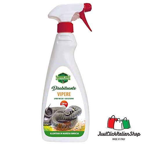 GreenWall Repellente DISABITUANTE ALLONTANA VIPERE Serpenti E RETTILI Naturale Spray 500 ML